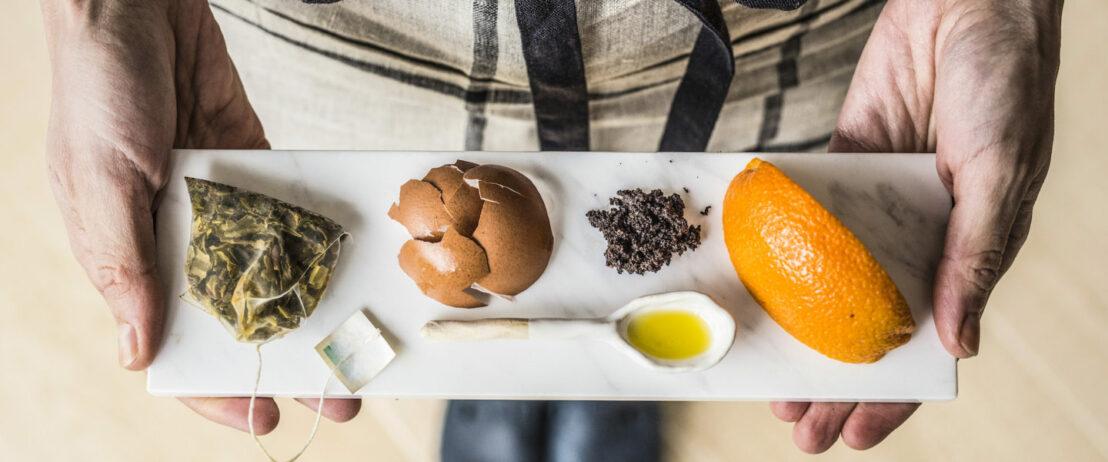 Tee, Eierschalen, Öl und Zitrusfrüchte als natürliche Reinigungsmittel